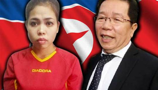 ông Gooi Soon Seng (phải), luật sư của nghi phạm Aishah (trái). Ảnh: Free Malaysia Today