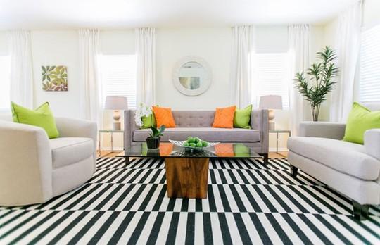 Lắng nghe phòng khách kể câu chuyện tấm thảm sọc trắng đen có phép mầu diệu kì - Ảnh 10.