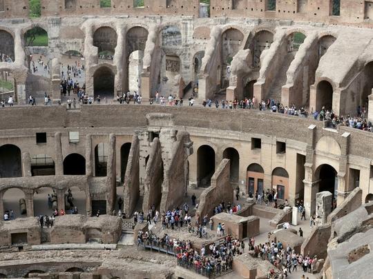 Đấu trường La Mã mở cửa tầng cao nhất phục vụ du khách - Ảnh 3.