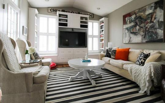Lắng nghe phòng khách kể câu chuyện tấm thảm sọc trắng đen có phép mầu diệu kì - Ảnh 3.