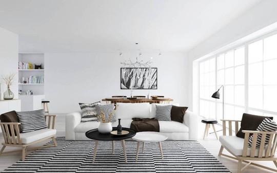 Lắng nghe phòng khách kể câu chuyện tấm thảm sọc trắng đen có phép mầu diệu kì - Ảnh 6.