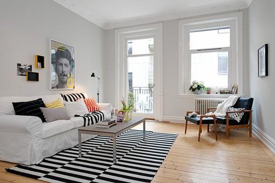Lắng nghe phòng khách kể câu chuyện tấm thảm sọc trắng đen có phép mầu diệu kì - Ảnh 7.