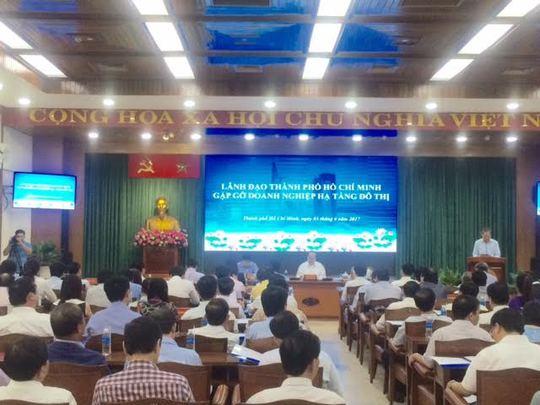 Lãnh đạo TP HCM gặp gỡ doanh nghiệp hạ tầng đô thị - Ảnh 1.