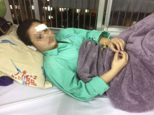 Chị Nguyễn Thị Ngọc Trúc đang điều trị tại Bệnh viện Chợ Rẫy