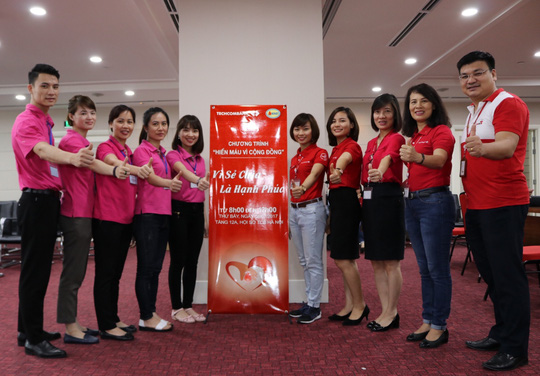 """Hơn 500 CB-NV Techcombank đồng hành cùng """"hành trình đỏ"""" hiến máu tình nguyện - Ảnh 1."""