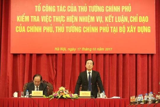 Bộ trưởng Bộ Xây dựng Phạm Hồng Hà phát biểu - Ảnh: Hồ Ý