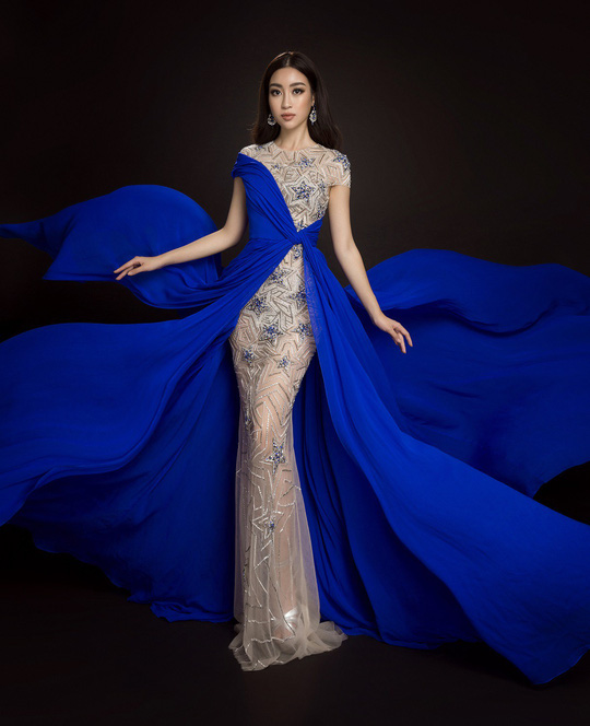 Ngắm đầm dạ hội Mỹ Linh mang đến Hoa hậu Thế giới 2017 - Ảnh 8.
