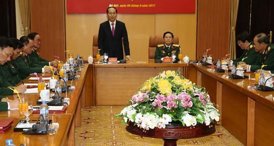 Chủ tịch nước Trần Đại Quang làm việc với Bộ Quốc phòng - Ảnh 1.