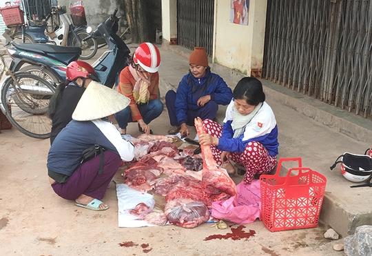 Nhiều hộ chăn nuôi heo đã tự tay mổ heo bán rẻ để trang trải cuộc sống