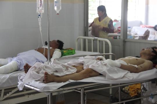 Các nạn nhân đang được điều trị
