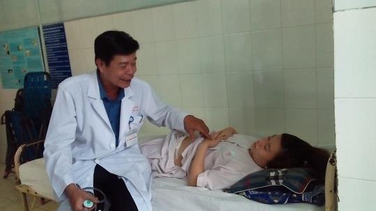 Chị H. đang được chăm sóc tại Bệnh viện An Bình