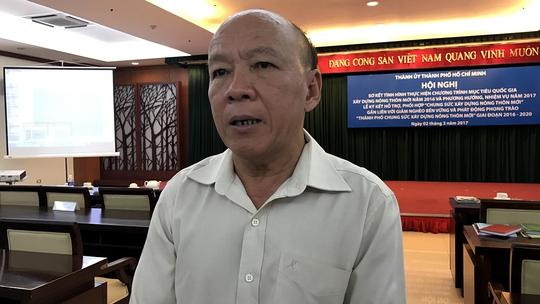 Ông Nguyễn Văn Phụng, Bí thư Huyện ủy Bình Chánh (TP HCM)