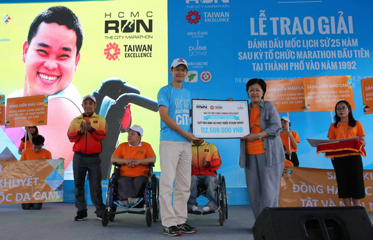 Taiwan Excellence quyên góp được 112,5 triệu đồng, được trích để hỗ trợ người khuyết tật và nạn nhân chất độc da cam