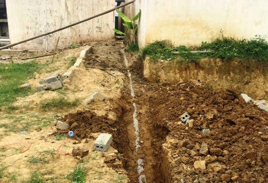 Qua kiểm tra đoàn công tác liên ngành ở Thanh Hóa phát hiện công ty chôn ống ngầm xả thải trực tiếp ra sông
