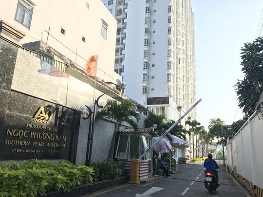 Chung cư Viên Ngọc Phương Nam, quận 8, TP HCM vừa bị Sở Xây dựng tuýt còi vì xây chưa xong đã đưa cư dân vào sinh sống.