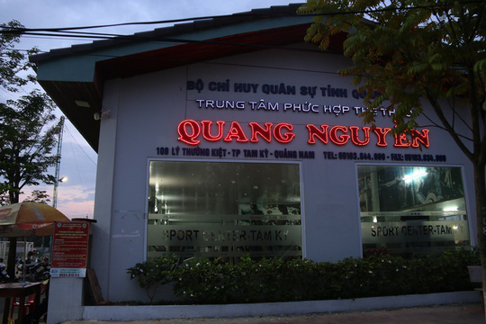 Hồ bơi nơi học sinh lớp 5 tử nạn nằm trong Trung tâm phức hợp thể thao Quang Nguyễn