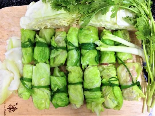 Nguyên liệu cho món canh bắp cải cuộn