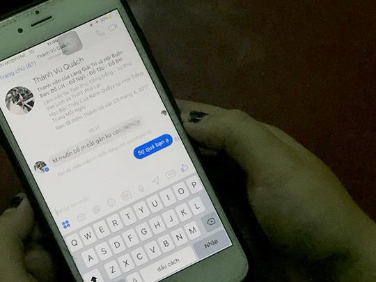 Người nhà của em Trúc nhận được những tin nhắn đe dọa