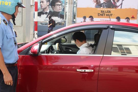 Một trường hợp taxi công nghệ bị lực lượng Thanh tra giao thông xử phạt tại TP HCM