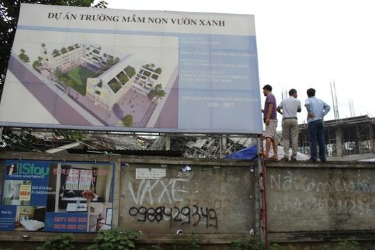 Náo loạn vì sập công trình trường mầm non 1.000 m2 - Ảnh 3.