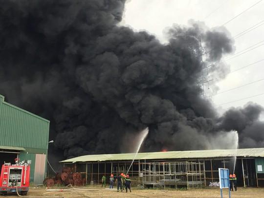 Bà Rịa – Vũng Tàu: Cháy lớn ở bãi phế liệu - Ảnh 2.