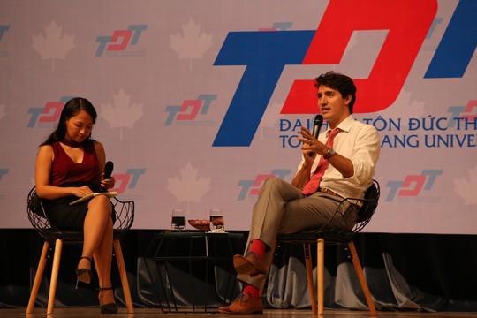 Thủ tướng Canada giao lưu với sinh viên TP HCM - Ảnh 7.