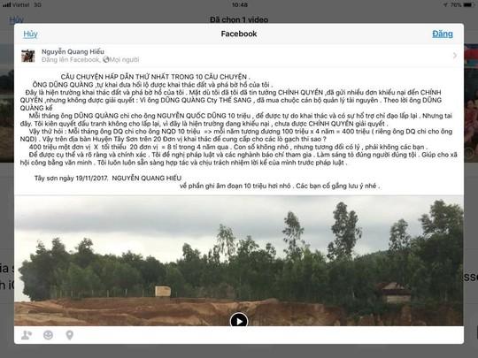 Cán bộ bị tố nhận tiền bảo kê khai thác đất trái phép - Ảnh 1.