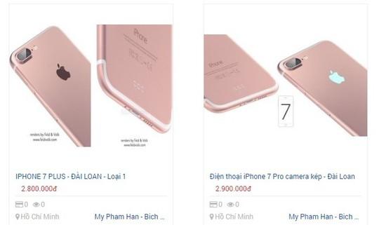 iPhone 7 nhái bán rầm rộ trên mạng.