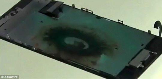 iPhone 7 nổ tại Trung Quốc. Nguồn: phonearena.com