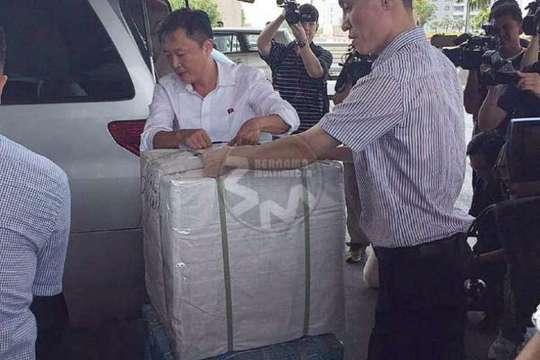 Hành lý của ông Kang. Ảnh: Bernama