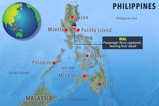 Philippines: Lật tàu trong mưa bão, hành khách chìm trong sóng dữ - Ảnh 2.