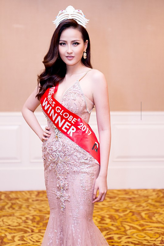 Hoa hậu Hoàn cầu Khánh Ngân được bổ nhiệm Đại sứ Hòa bình - Ảnh 1.