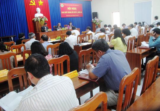 Bảo vệ quyền lợi người lao động là vấn đề được hội nghị đề cập nhiều