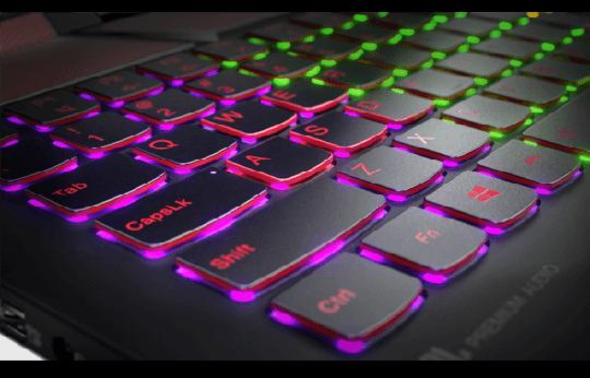 Bàn phím LED RGB 4 màu cho từng cụm phím chuyên dụng với kích thước lớn dành cho game thủ.