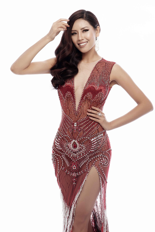 Trang phục khoe đường cong của Nguyễn Thị Loan tại Hoa hậu Hoàn vũ 2017 - Ảnh 5.