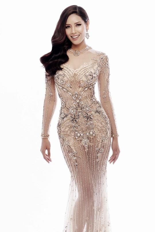 Trang phục khoe đường cong của Nguyễn Thị Loan tại Hoa hậu Hoàn vũ 2017 - Ảnh 4.