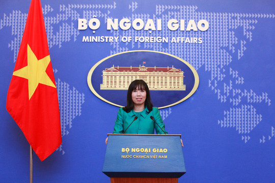 Bà Lê Thị Thu Hằng, Người Phát ngôn mới của Bộ Ngoại giao tại buổi họp báo chiều 30-3