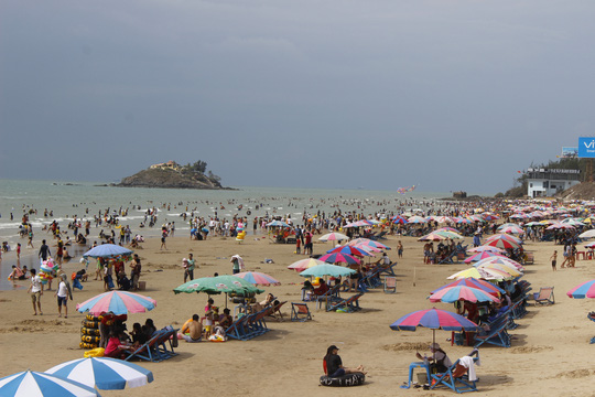 Bãi biển sạch sẽ khiến du khách rất hài lòng