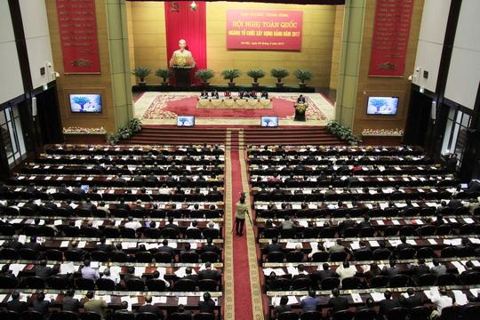Hội nghị được tổ chức tại Hội trường Bộ Quốc phòng