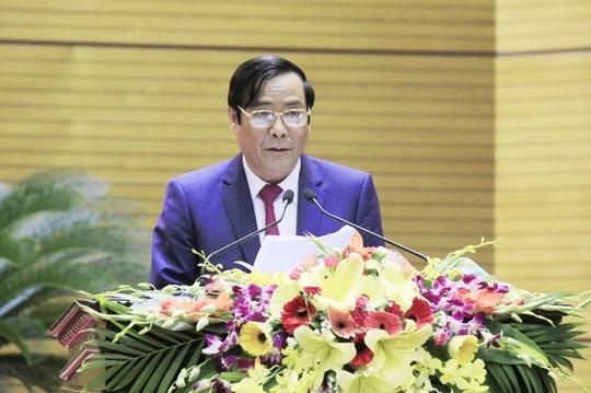 Phó Trưởng Ban Tổ chức Trung ương Nguyễn Thanh Bình trình bày báo cáo tại hội nghị - Ảnh: Kiên Thành