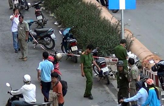 Hiện trường vụ án mạng trước Công ty Pou Yuen