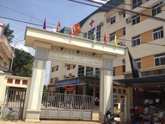 Bệnh viện Đa khoa Thạch Thất, nơi xảy ra sự việc bác sĩ bị đánh bất tỉnh
