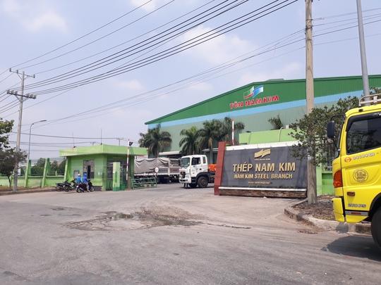 Công ty Cổ phần thép Nam Kim, nơi xảy ra tai nạn