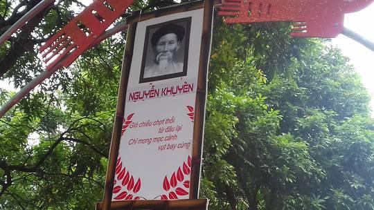 Pa-nô đưa sai ảnh Nguyễn Khuyến