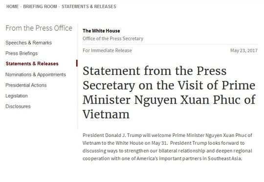 Tổng thống Donald Trump tiếp Thủ tướng Nguyễn Xuân Phúc tại Nhà Trắng - Ảnh 2.