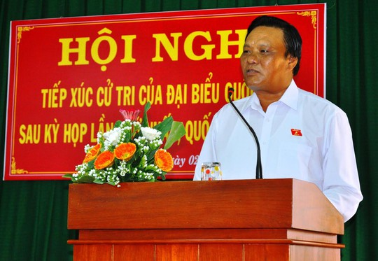 Ông Lê Kim Toàn - Phó Bí thư Thường trực Tỉnh ủy, Trưởng Đoàn Đại biểu Quốc hội tỉnh Bình Định