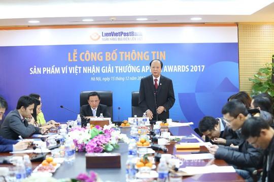 Ngân hàng Việt đầu tiên nhận giải APICTA 2017 - Ảnh 1.