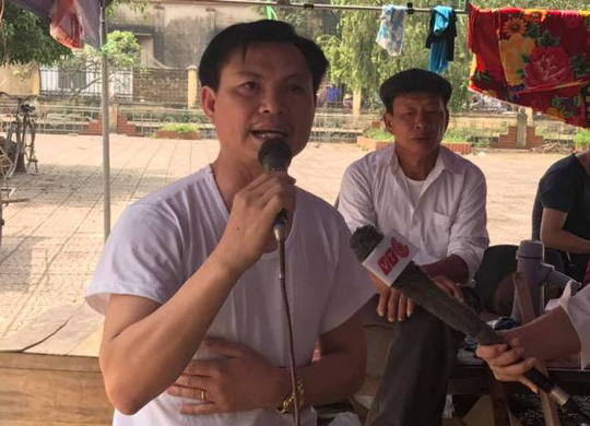 Ông Đặng Văn Cảnh phát biểu