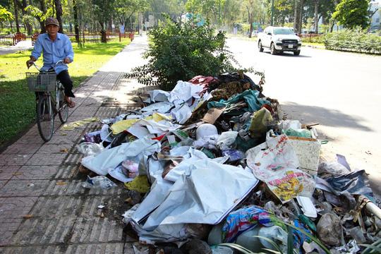 Ra khỏi sân bay Tân Sơn Nhất là ngập rác! - Ảnh 1.