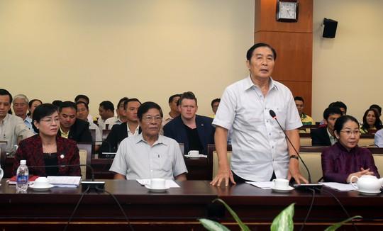Nguyên Giám đốc Sở TDTT TP HCM Phạm Văn Kiết phát biểu